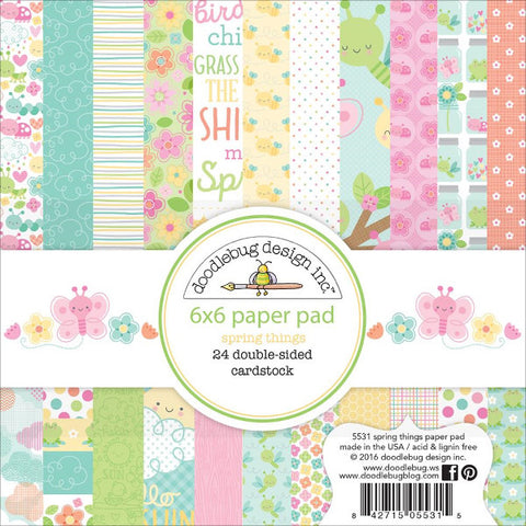 Doodlebug Spring Things 6x6 Paper Pad - The Heart Desires