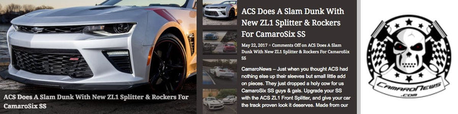 ACS Does A Slam Dunk With New ZL1 Splitter & Rockers For CamaroSix SS