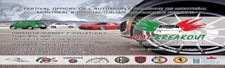 Montreal's Official Italian Automobile Festival – Fiat BreakOut 2013