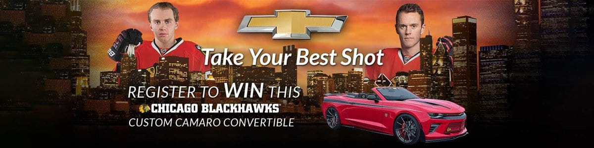 CHEVROLET CHICAGO BLACKHAWKS CAMARO GIVEAWAY