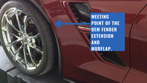 OEM Front Fender Extensions meeting ACS Front Mudflap
