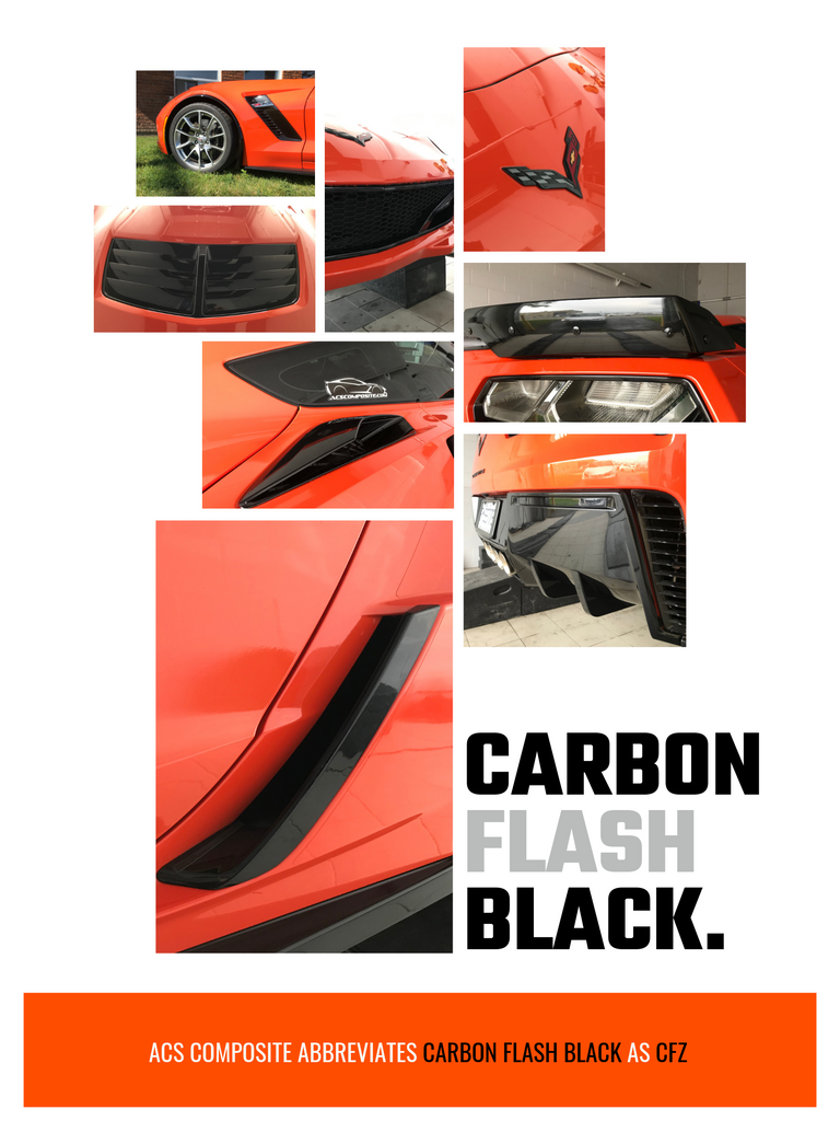 Items on the C7 Corvette painted Carbon Flash Metallic Black (WA501Q)
