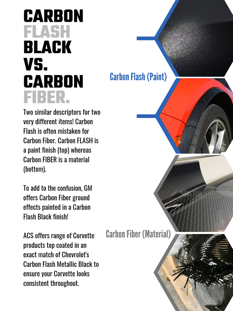 Carbon Fiber versus Carbon Flash on a C7 Corvette