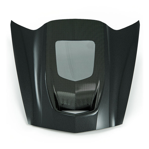 ACS Composite Zero7 Extractor Carbon Hood with Window and Exposed Carbon Cowl