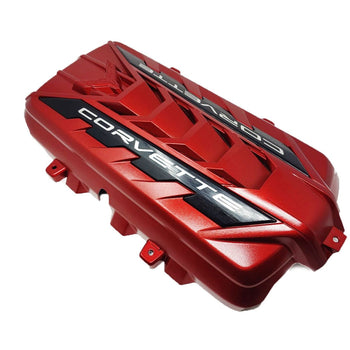 C8 LT2 Red Engine Cover