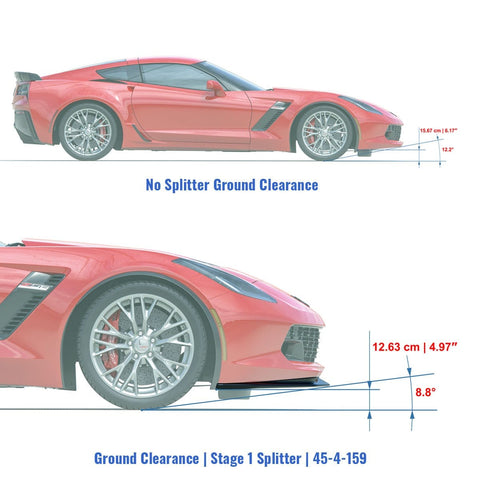 C7 Stingray, Grand Sport, & Z06 | C7 Stage 1 Splitter | 45-4-159