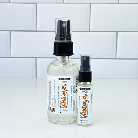 Hand Sanitizer Spray: Orange