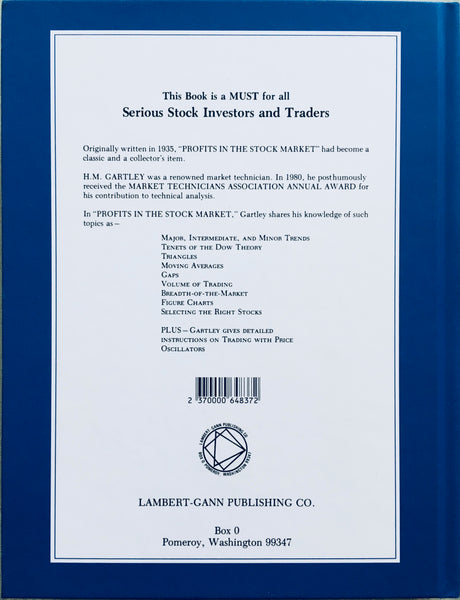 Profits In The Stock Market-hardcover- H.M. Gartley