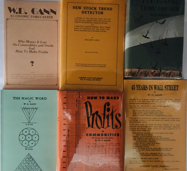 6 books by W.D. Gann