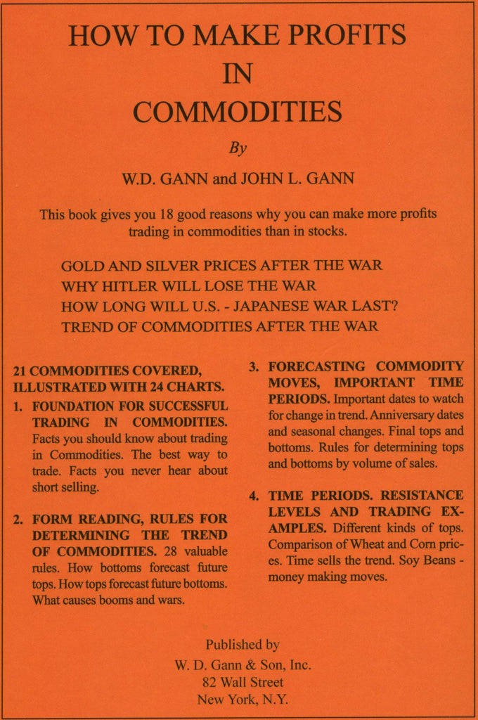 1941 How to Make Profits in Commodities, W.D. Gann
