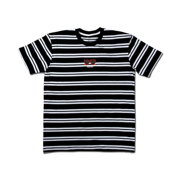 Heart Eyes Embroidered Stripe Tee
