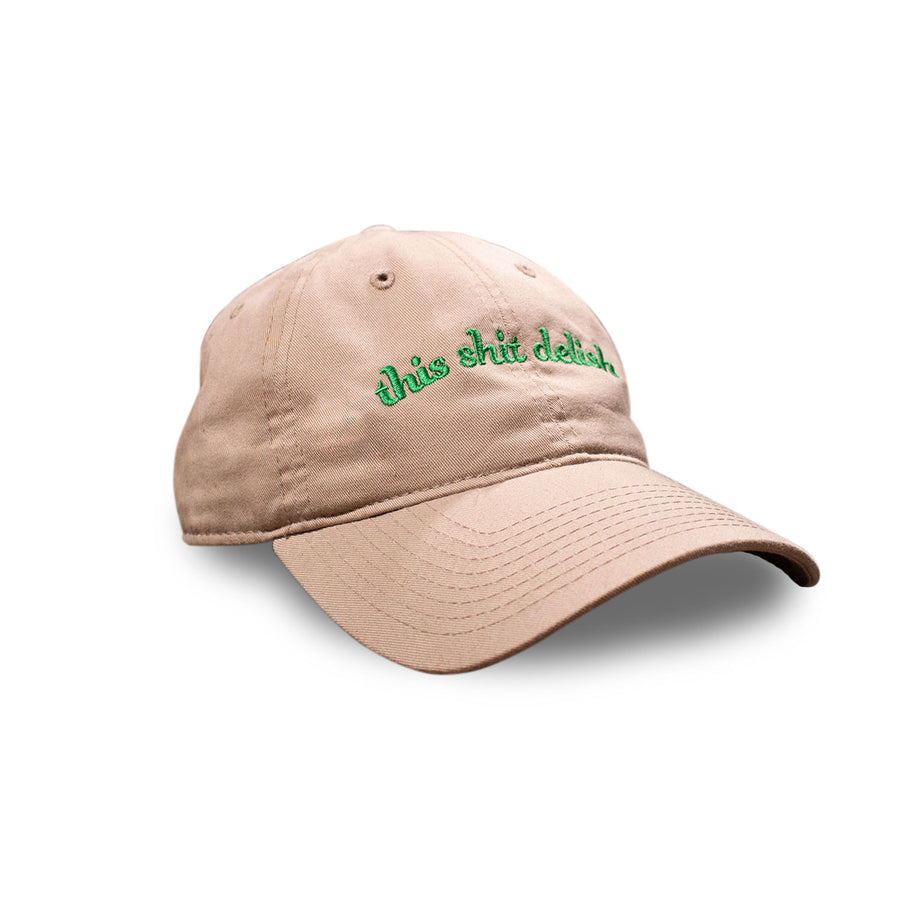 This Shit Delish Khaki 6 Panel Hat