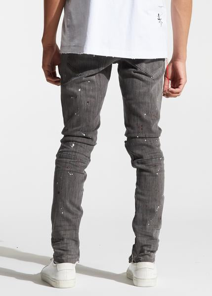 Pacific Denim (Grey Paint Splatter)
