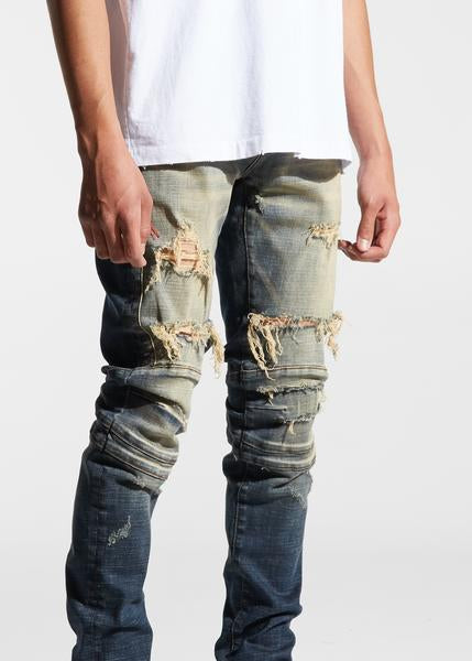 Hudson Denim (Distressed Indigo Dirty Wash)
