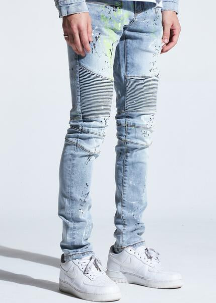 Skywalker Biker Denim (Light Indigo Paint)