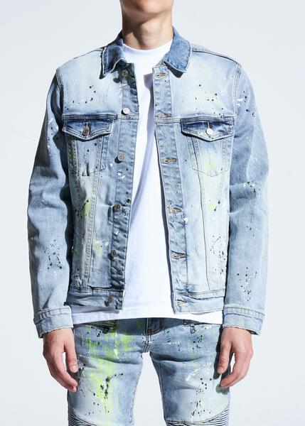 Bering Denim Jacket (Light Indigo Paint)
