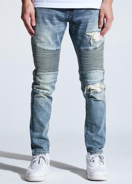 Skywalker Biker Denim (Vintage Indigo)