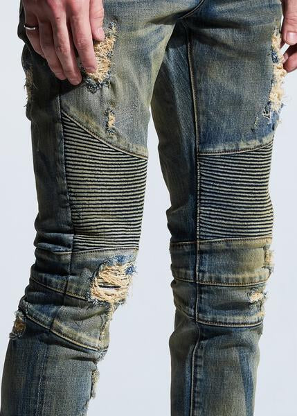 Skywalker Biker Denim (Sand Wash)