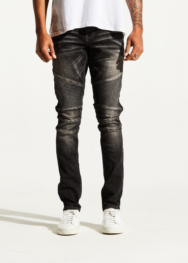 Skywalker Biker Denim (Stone Charcoal)
