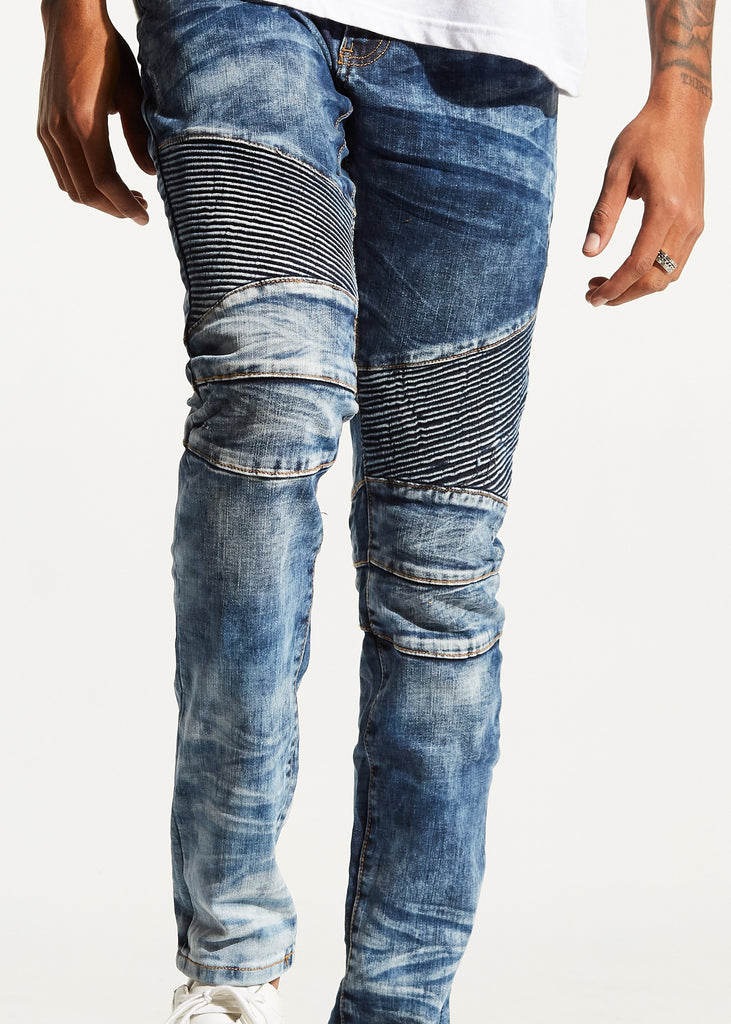Skywalker Biker Denim (Deep Blue)