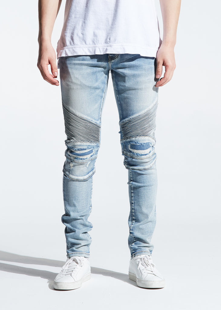 Skywalker Biker Denim (Light Indigo)