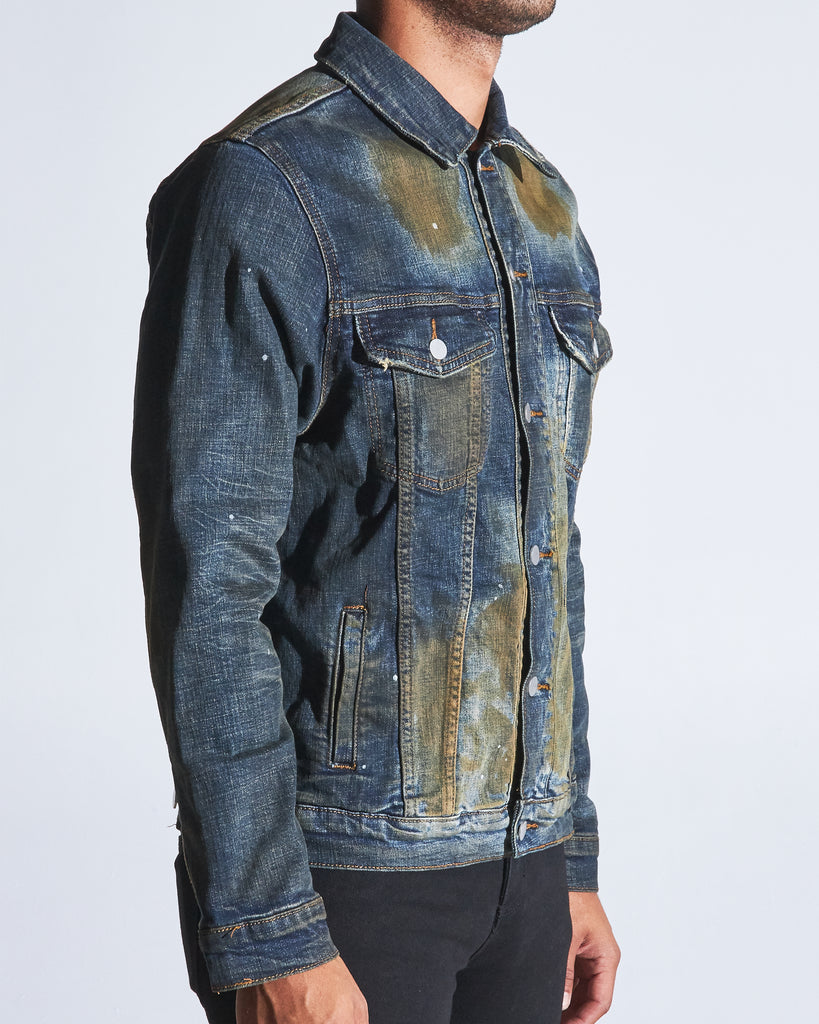 Bering Denim Jacket (Dark Indigo Oil)