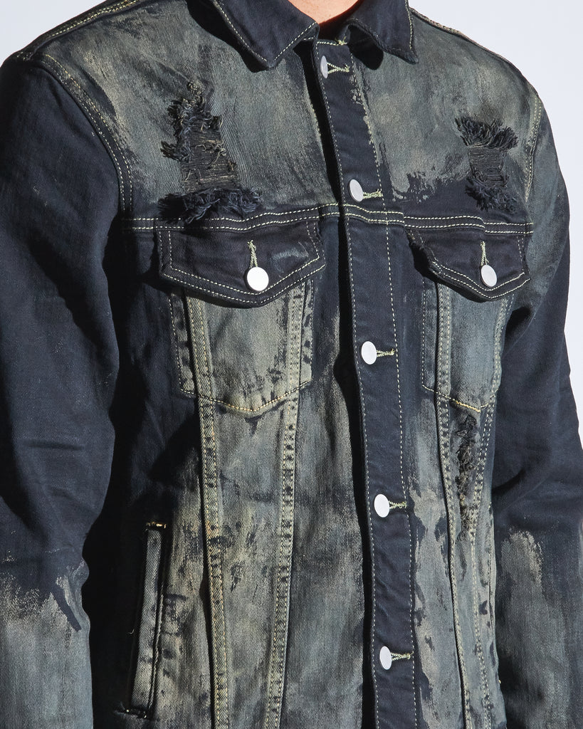 Bering Denim Jacket (Black Rust)
