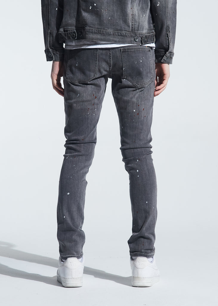 Atlantic Denim (Grey Paint Splatter)