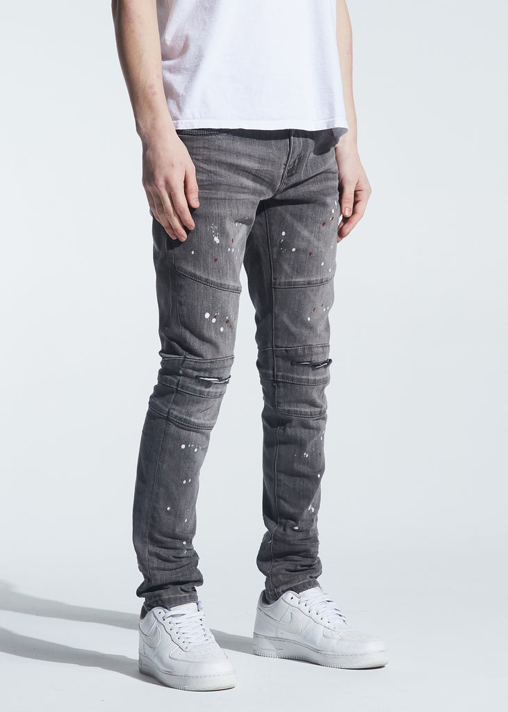 Montana Denim (Grey Paint Splatter)