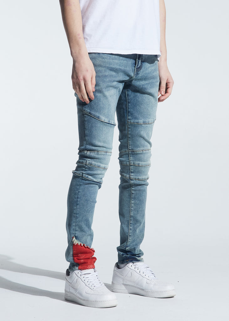 Montana Denim (Indigo Red Bandana)