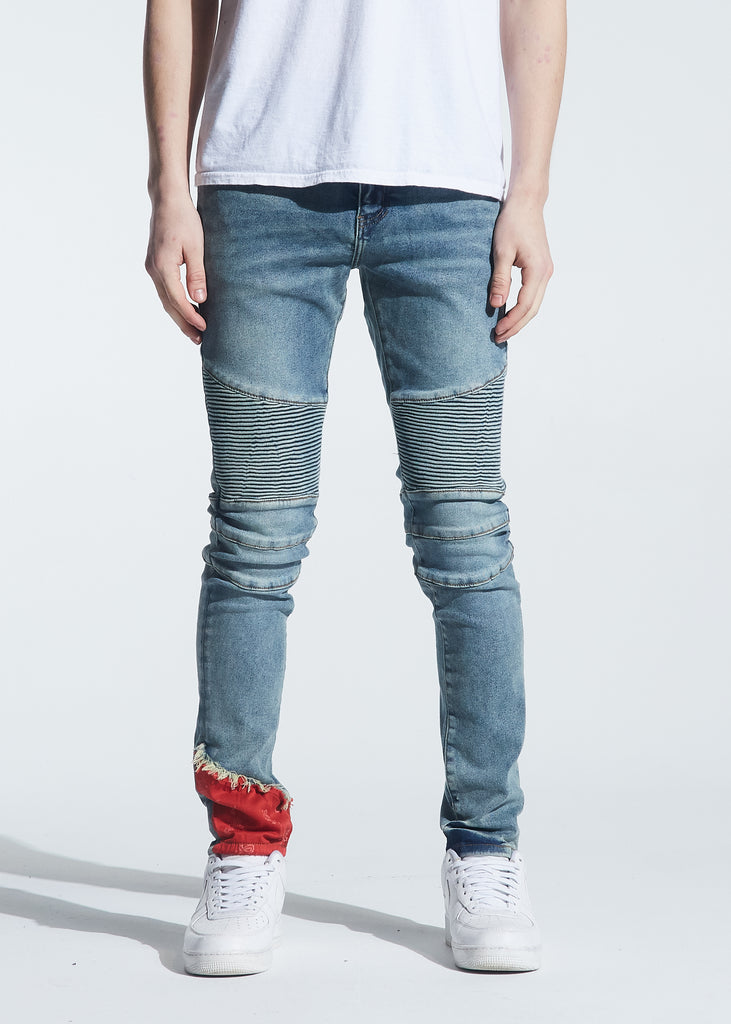 Skywalker Biker Denim (Indigo Red Bandana)
