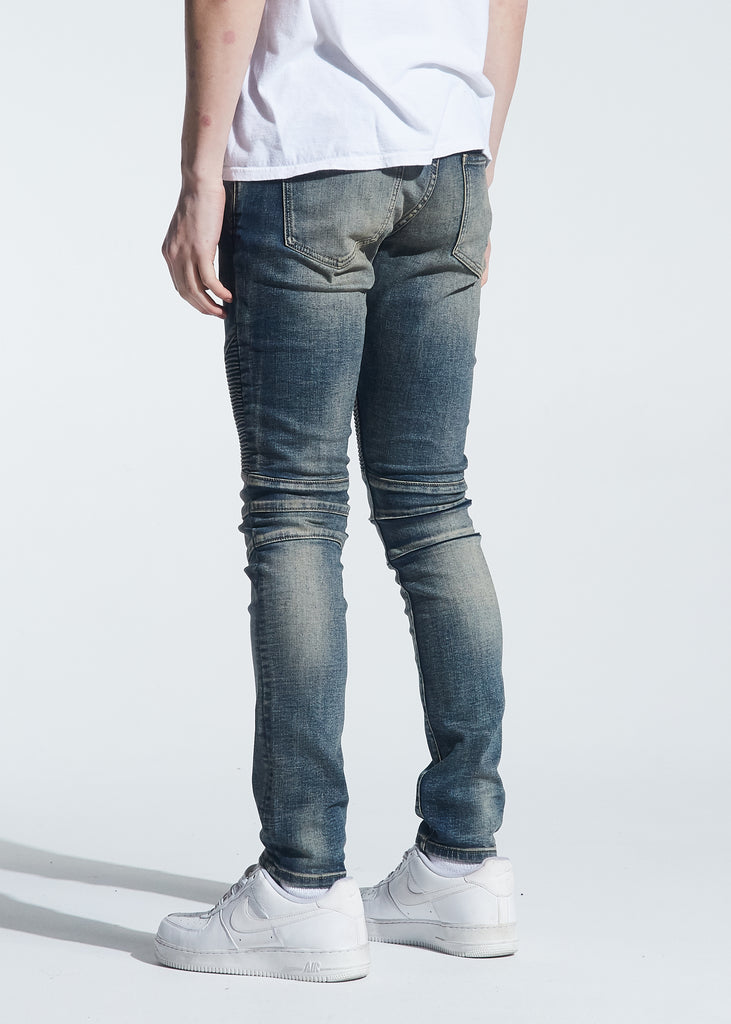 Skywalker Biker Denim (Indigo Dirty Wash)