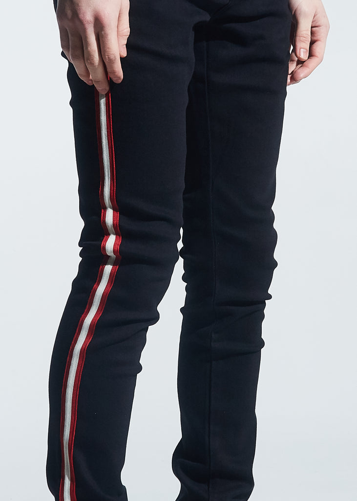Manuel Denim (Black Red Taping)