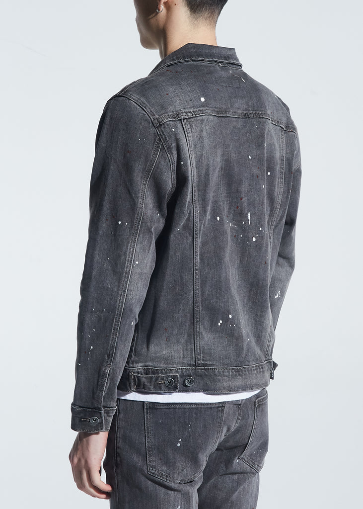 Bering Denim Jacket (Grey Paint Splatter)