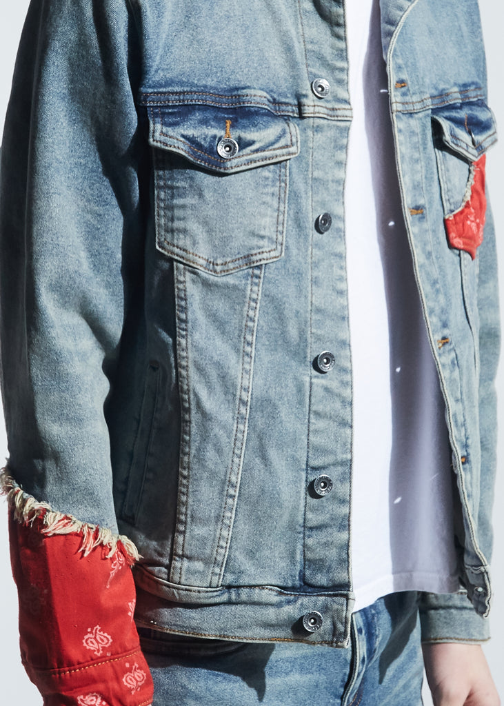 Bering Denim Jacket (Indigo Red Bandana)