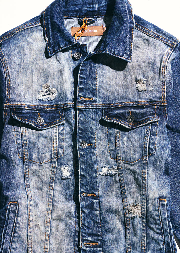 Bering Denim Jacket (Indigo Distressed)
