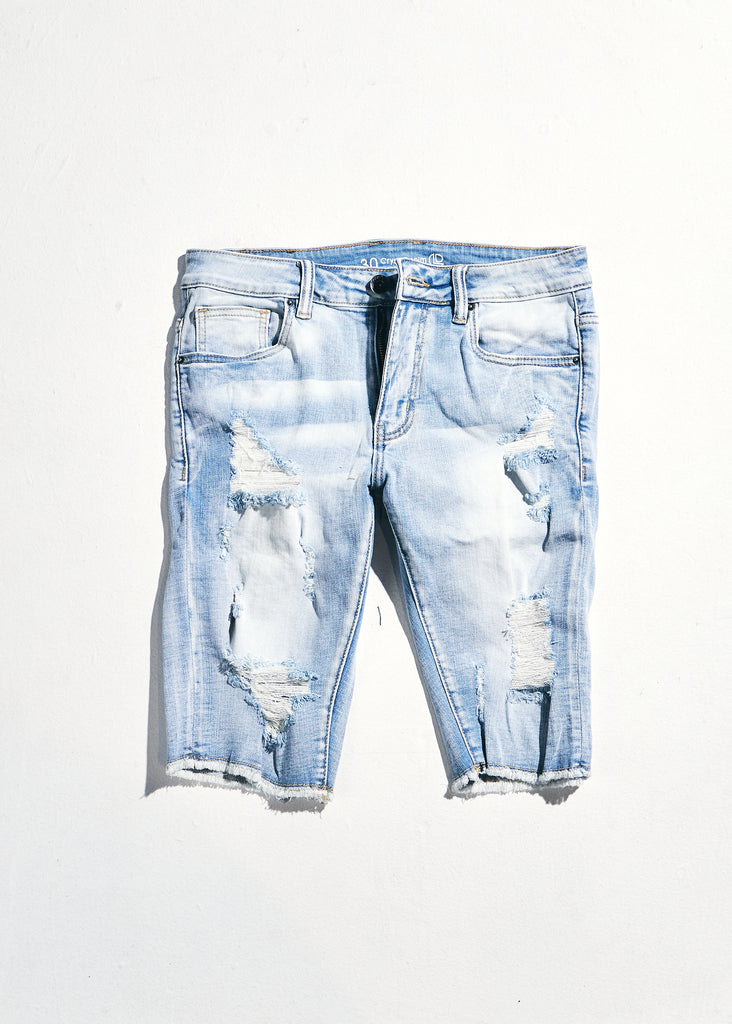 Philips Shorts (Distressed Light Indigo)