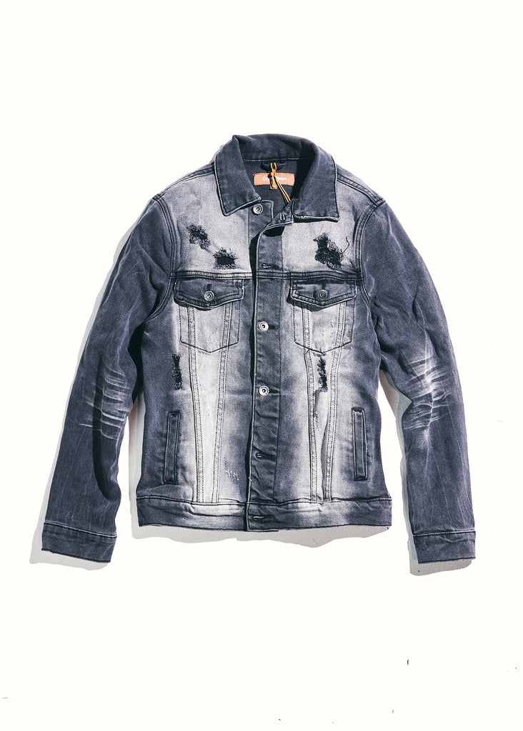 Bering Denim Jacket (Gray Distressed)