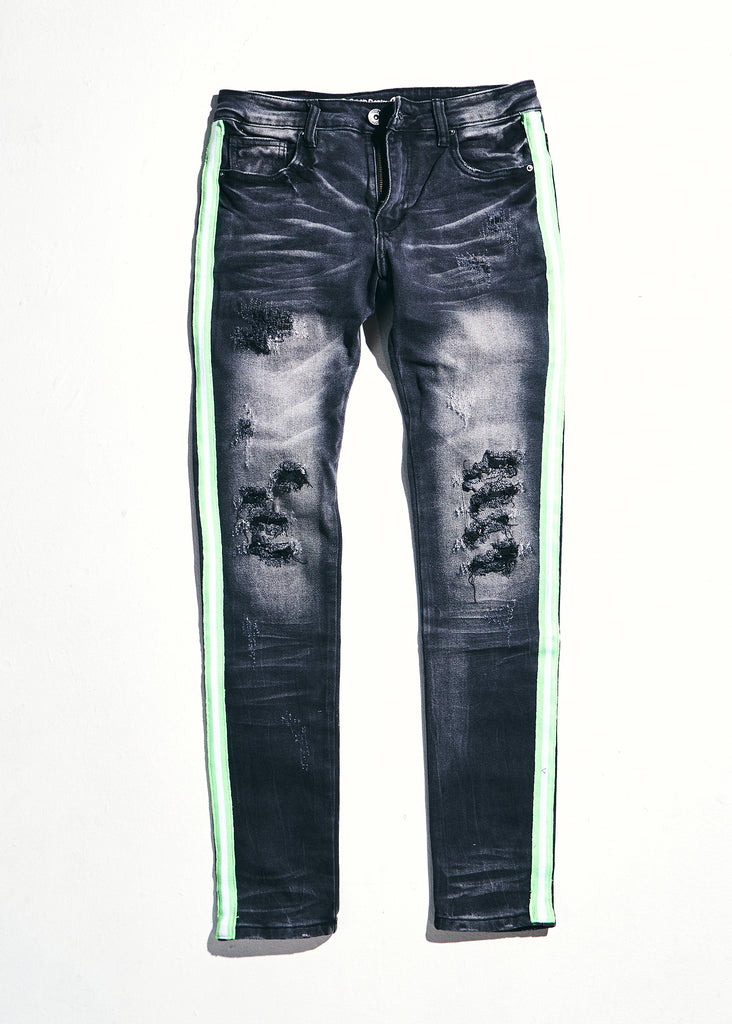 Line Denim (Grey/Slime)