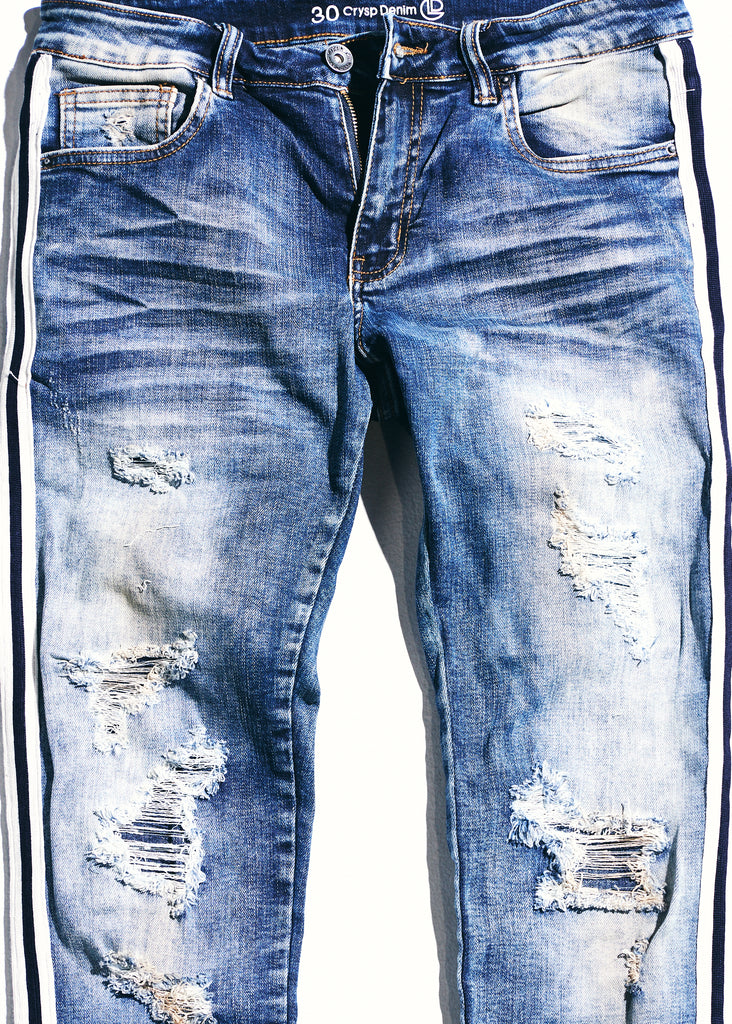 Line Denim (Blue/White)