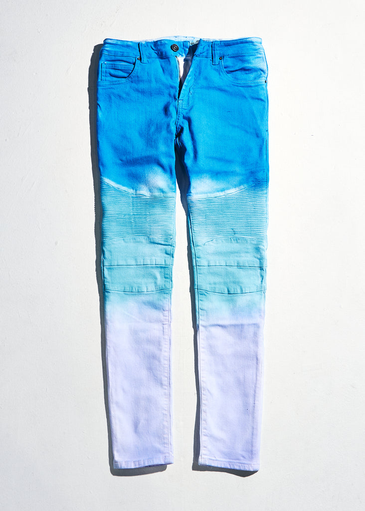 Skywalker Biker Denim (Purple Blue Fade)
