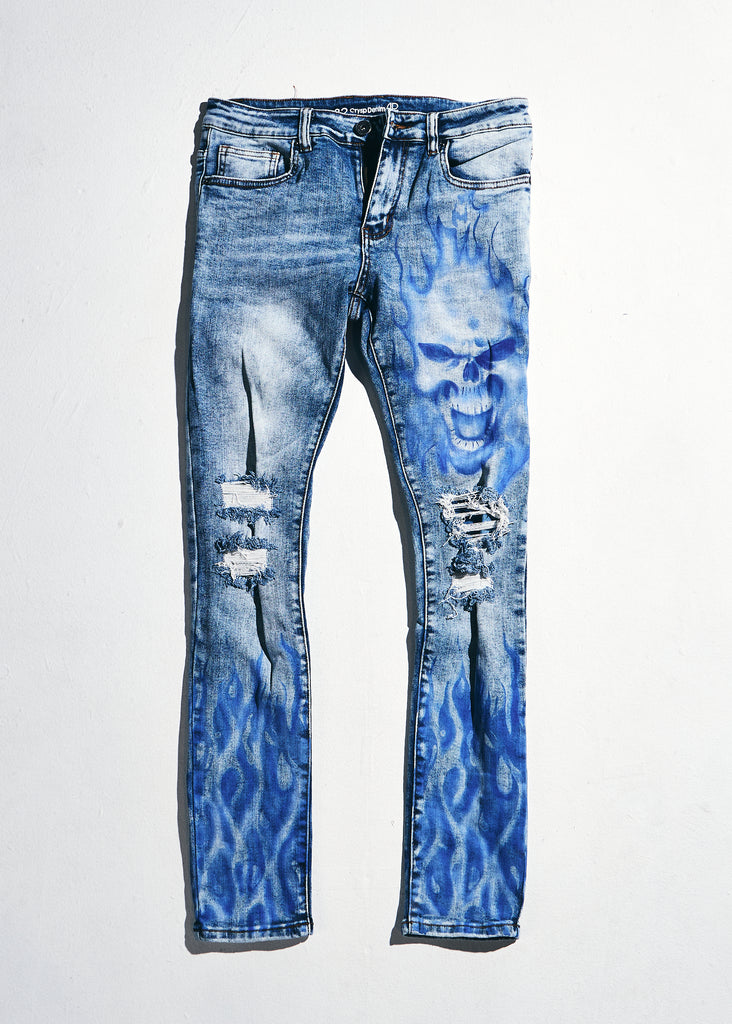Atlantic Denim (Blue Flames)