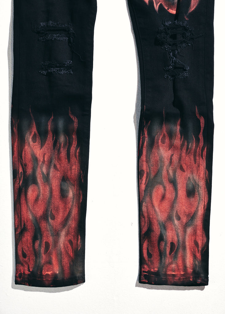 Atlantic Denim (Red Flames)