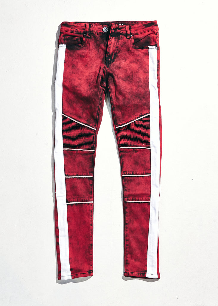 Skywalker Biker Denim (Red/White)