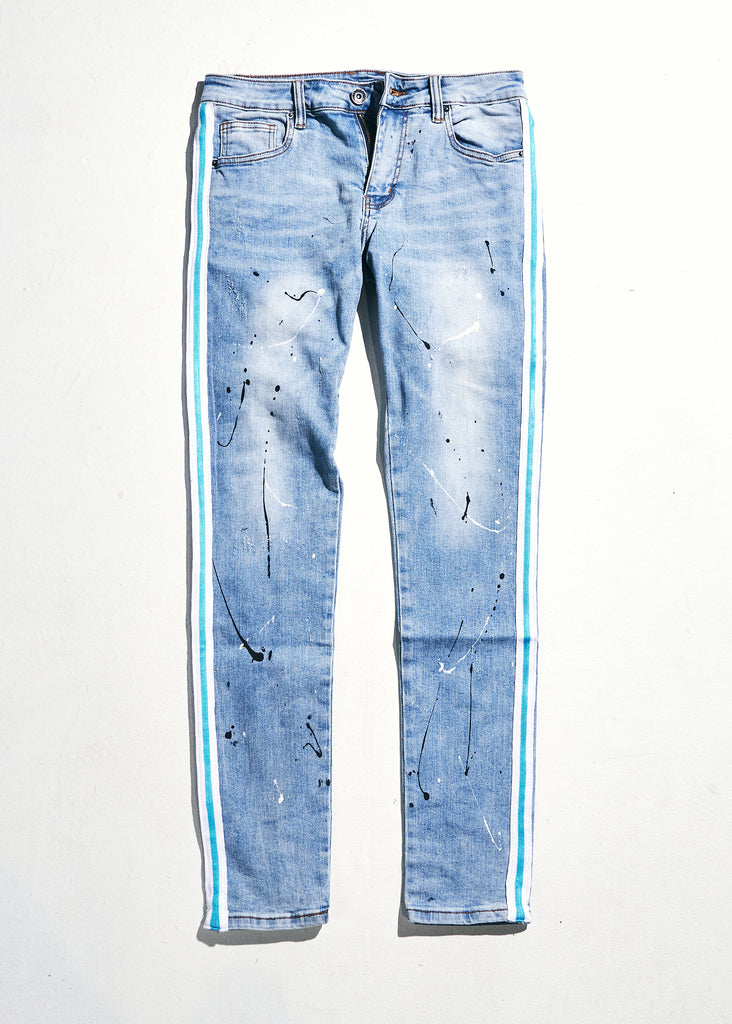 Line Denim (Blue/Teal)