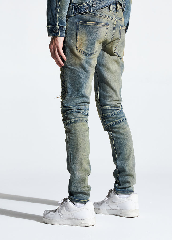 Skywalker Biker Denim (Light Sand Wash)