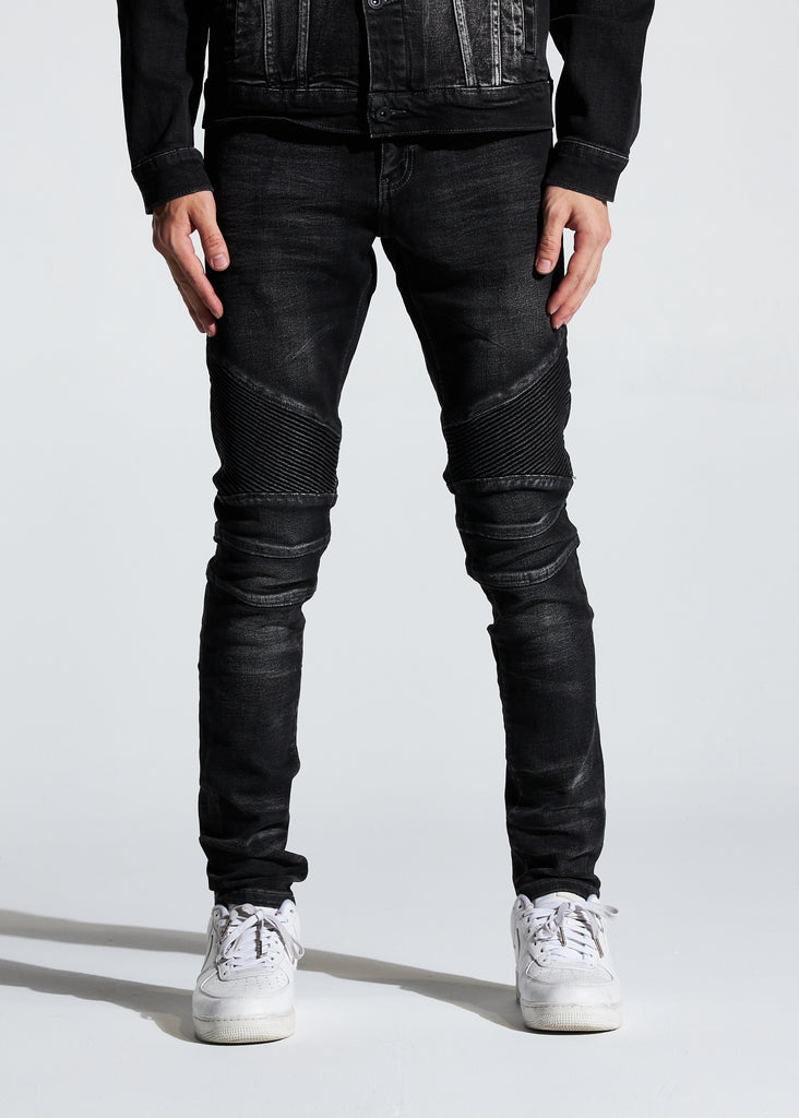 Skywalker Biker Denim (Washed Black)