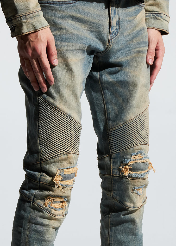 Skywalker Biker Denim (Fade Sand)