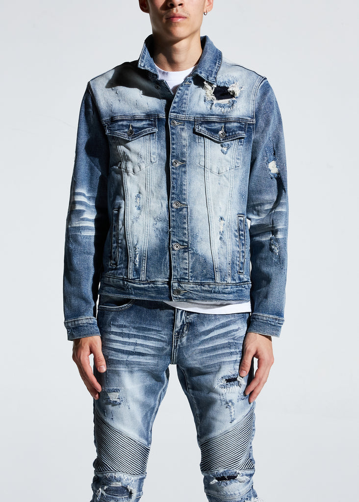 Bering Denim Jacket (Bleach Indigo)