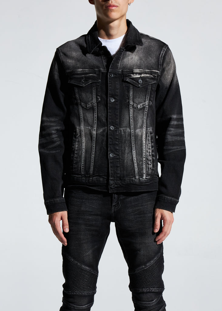 Bering Denim Jacket (Washed Black)
